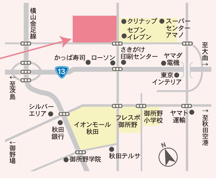 家事シエアハウス地図